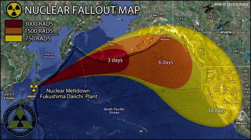 Japan-nuclear fall out map 2011