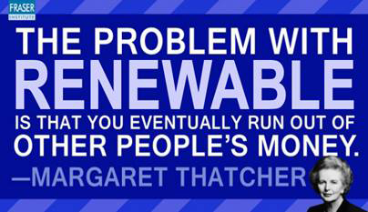 Thatcher: running out of other peoples money