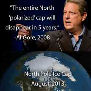 Al Gore's prophesy on the melting of the North Pole