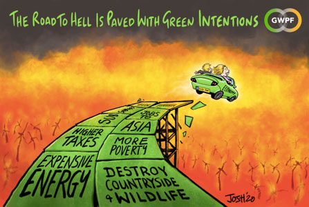 road to hell is paved with  green intentions