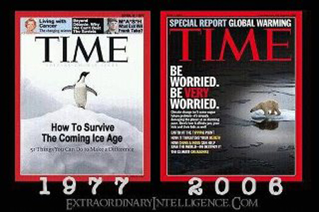 time Magazine zowel bang voor global cooling als global warming: gewoon altijd bang dus